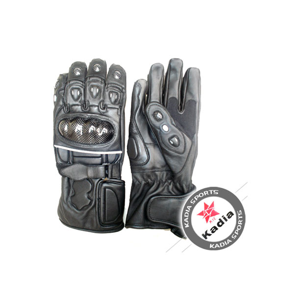 Leather Knuckle Protection Motorcycle Gloves