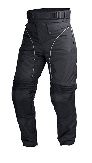 Mens Black Cordura Motorcycle Pant