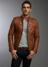 Mens Brown Fashion Leather Jackets