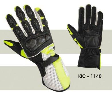 Mens Leather Motorcycle Gloves
