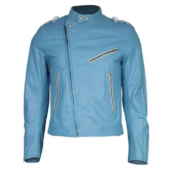 Men Biker Style Leather Jacket