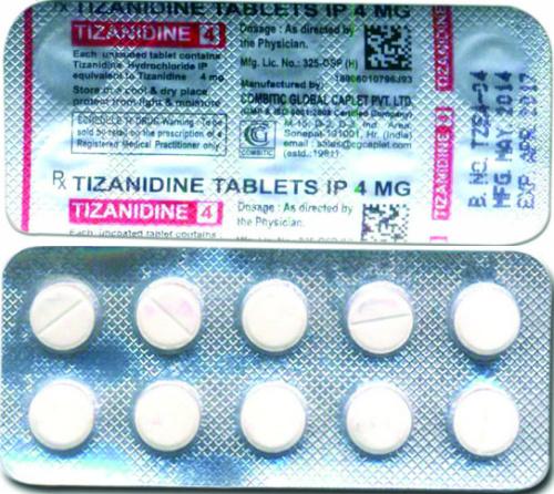 Tizanidine 4 Tablets