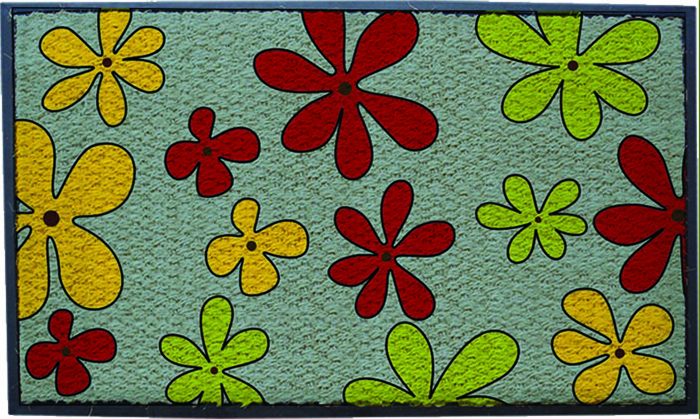 Printed Rubberised Coir Mats