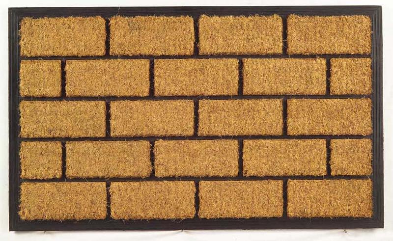 Rubber Moulded Coir Brush Door Mats