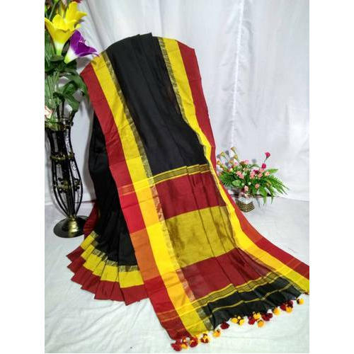 Black Khadi Cotton Sarees