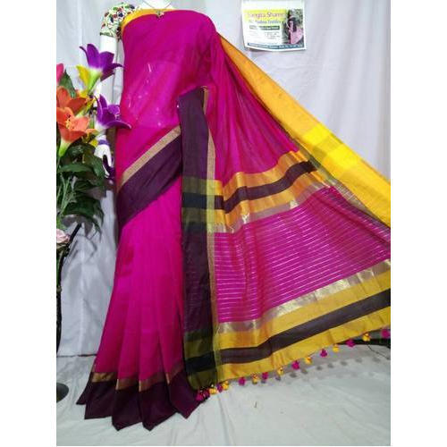Pink Cotton Silk Sarees