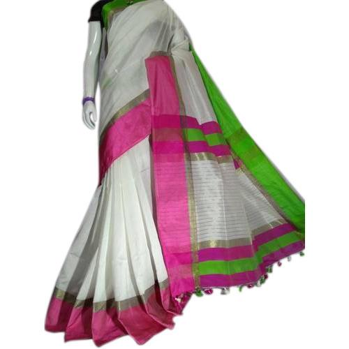 White Cotton Silk Sarees