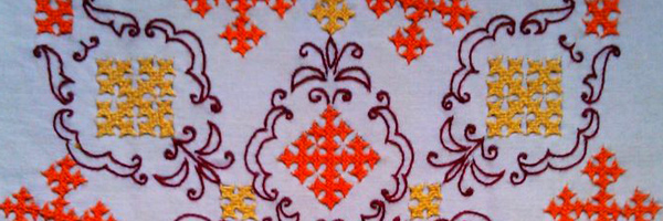 Embroidery Work Fabric