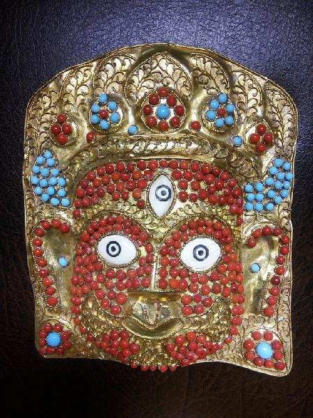 Metal Bhairav Wall Hanging Mask