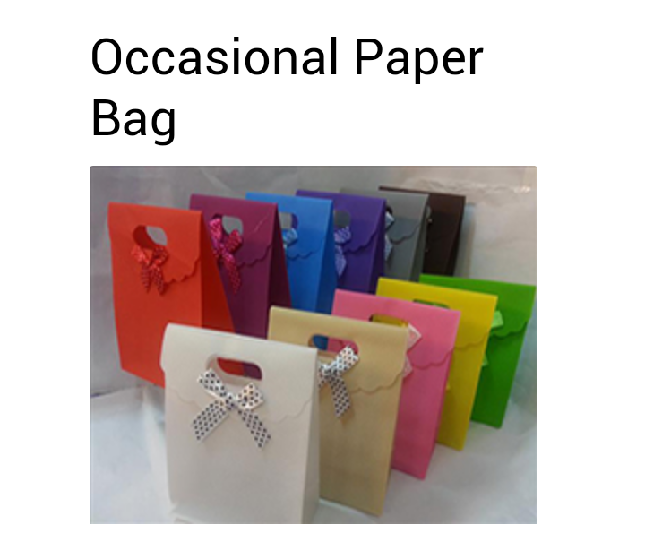 Occasional Paper Bags