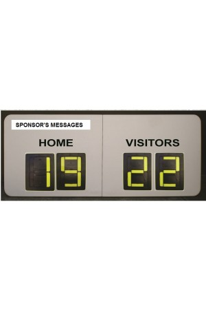 4 Digit Rugby Small Self Supporting Scoreboard