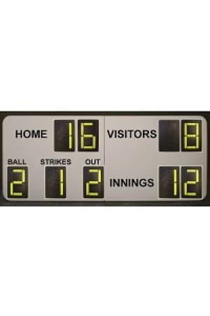9 Digit Softball Self Supporting Scoreboard