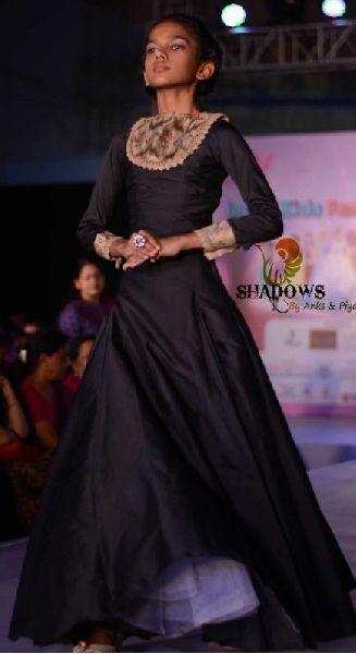 Ladies Black Egyptian One Piece Dress