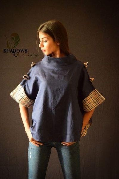 Ladies Cotton Silk Top