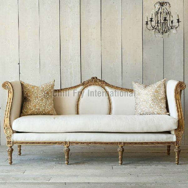Cabriole Sofa with Excellent Carving