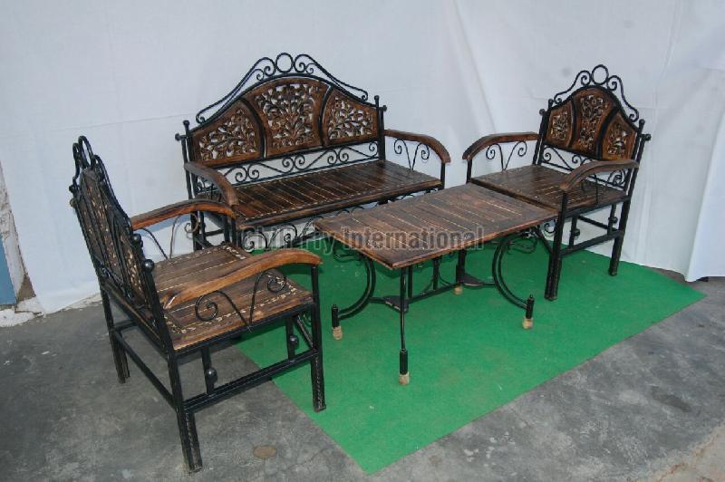 Iron Sofa Set with Table
