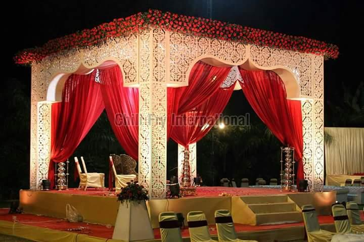 Wedding Fiber Mandap 01