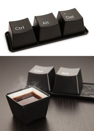 Keyboard Keys Teacup Set