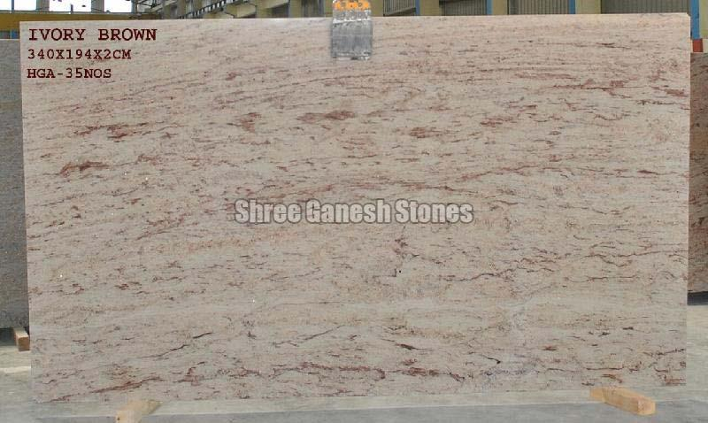 Ivory Brown Granite Slabs