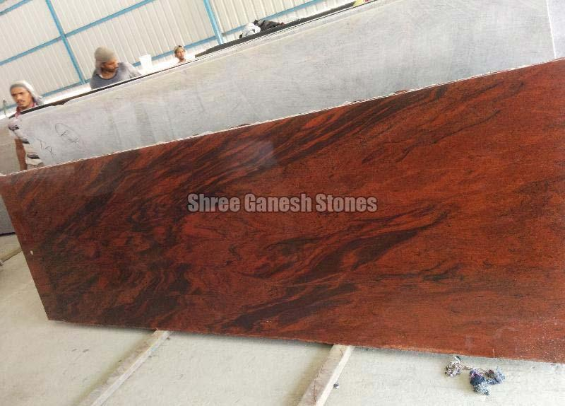 Red Multi Granite Slabs 01