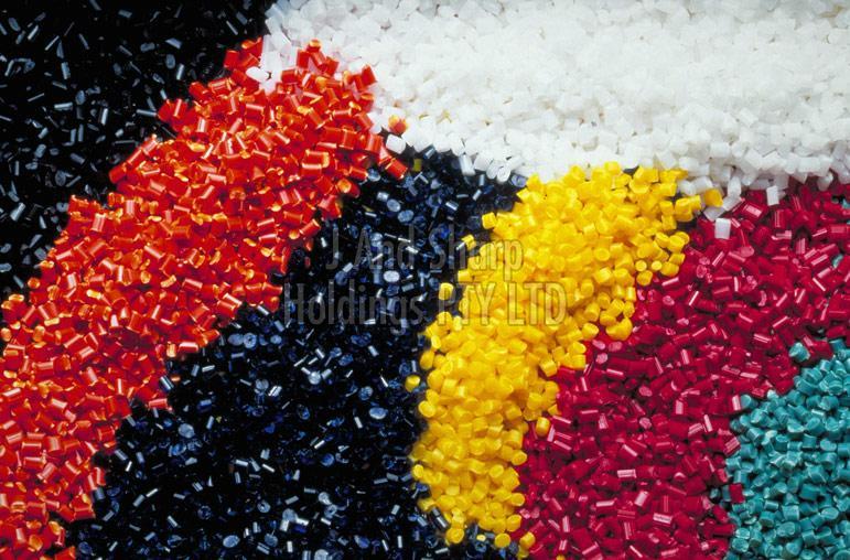 Recycled polyethylene granules