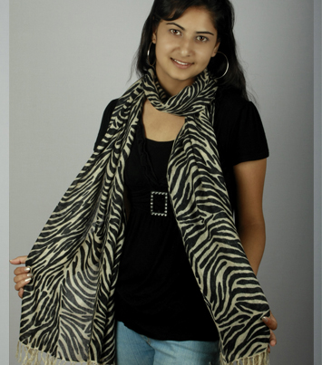Ladies Zebra Print Scarves