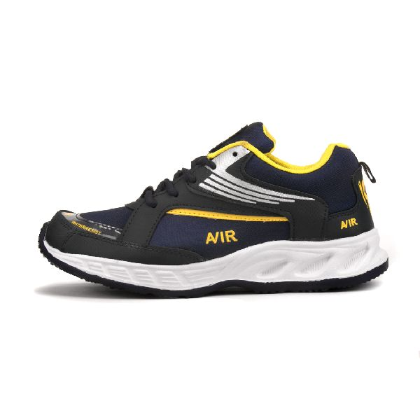 Mens Navy Blue & Yellow Shoes 02