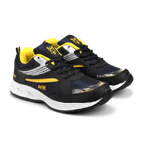 Mens Navy Blue & Yellow Shoes 05