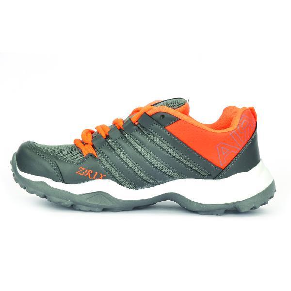 Mens Grey & Orange Shoes 01