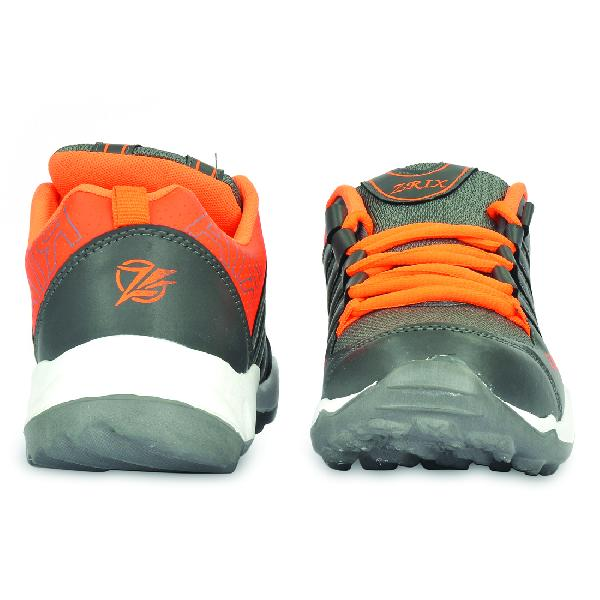 Mens Grey & Orange Shoes 02
