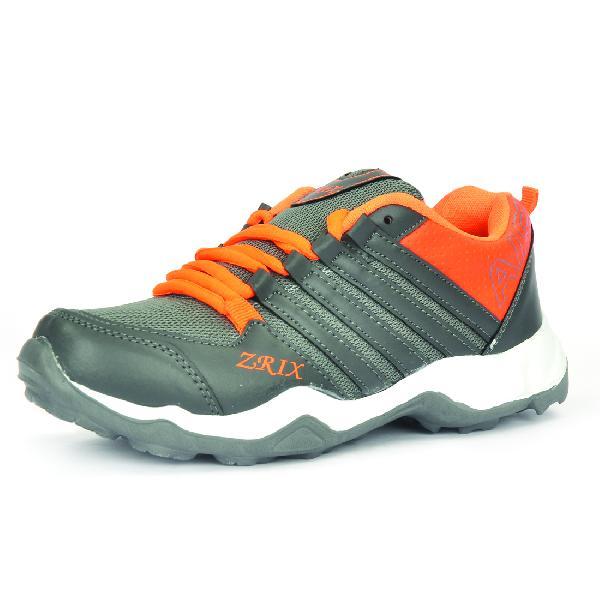Mens Grey & Orange Shoes 06