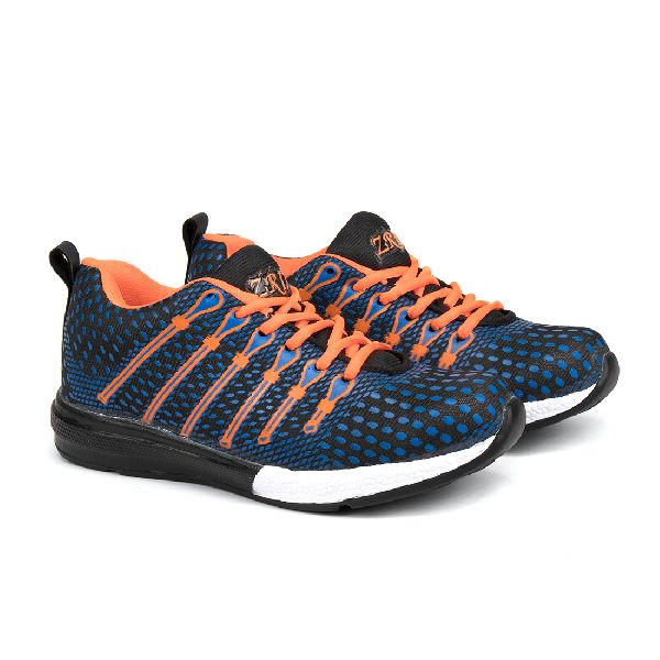 Mens Navy Blue & Orange Shoes 05