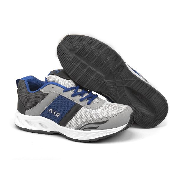 Mens Grey & Royal Blue Shoes 04