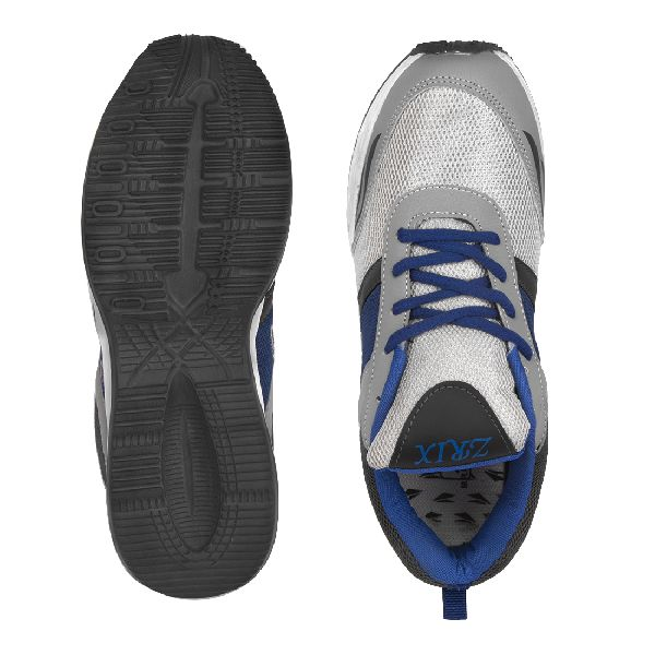 Mens Grey & Royal Blue Shoes 05