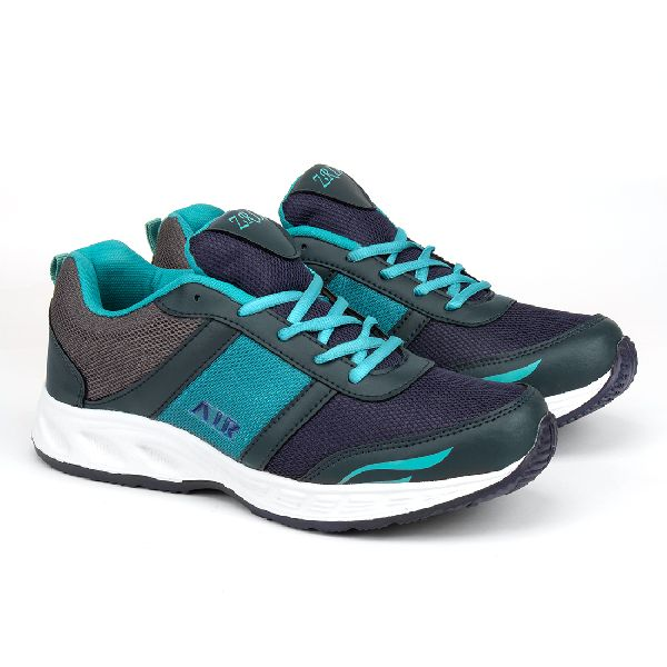 Mens Navy Blue & Sea Green Shoes 03