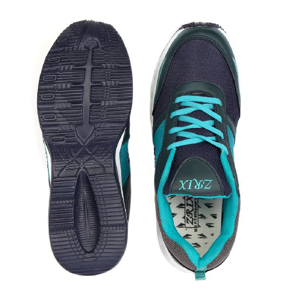 Mens Navy Blue & Sea Green Shoes 04