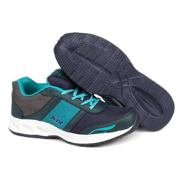 Mens Navy Blue & Sea Green Shoes 05