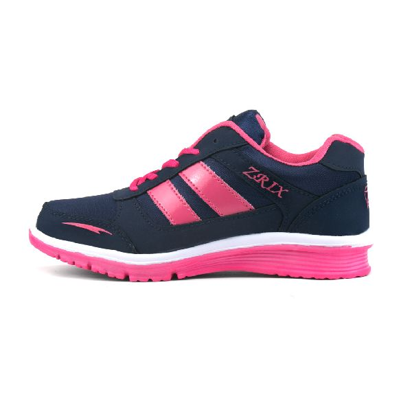 Ladies Navy Blue & Pink Shoes 03