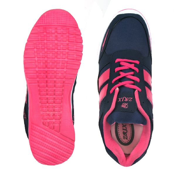 Ladies Navy Blue & Pink Shoes 05