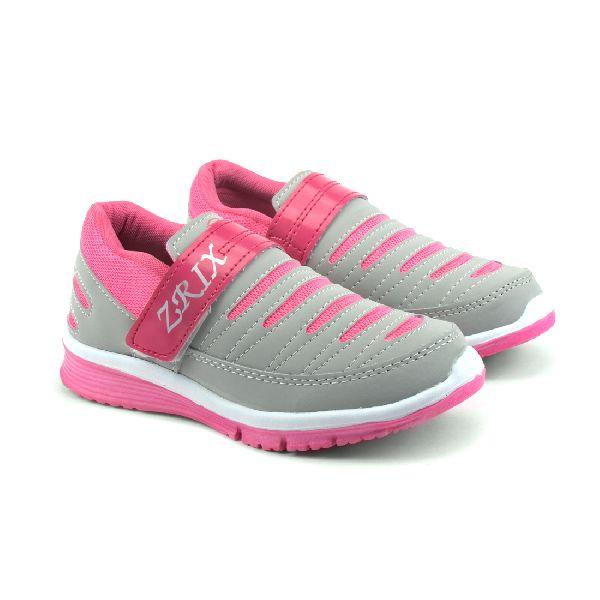 Ladies Grey & Pink Shoes 01