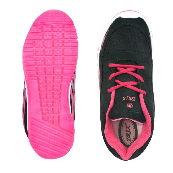 Ladies Black & Pink Shoes 05