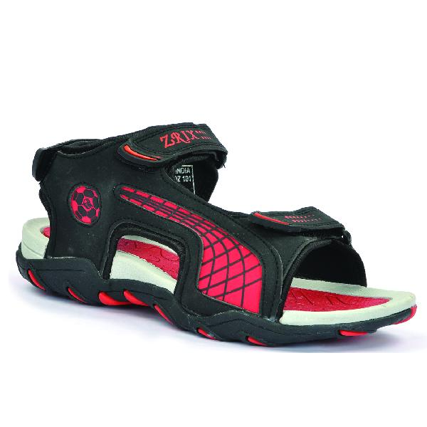 SDZ 101 Mens Black & Red Sandals 02