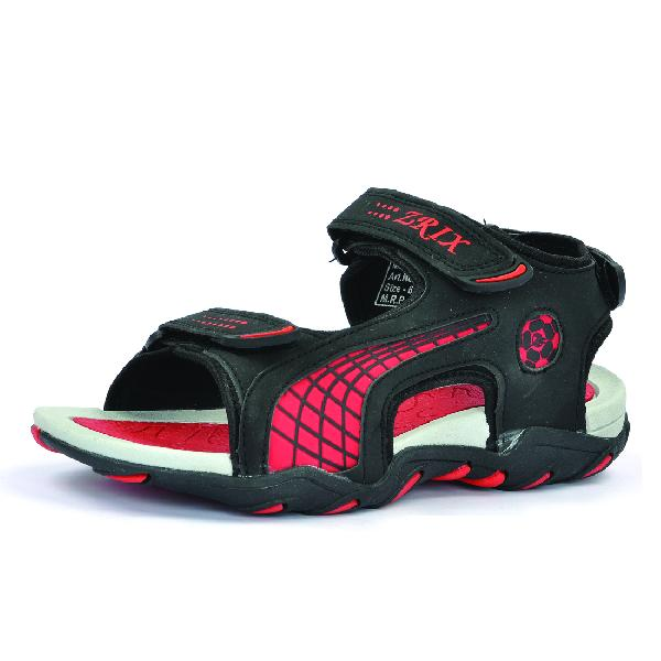 SDZ 101 Mens Black & Red Sandals 03