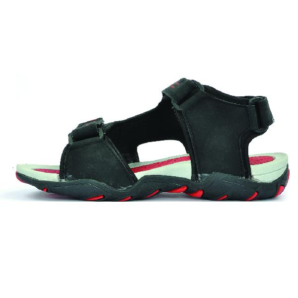 SDZ 101 Mens Black & Red Sandals 06