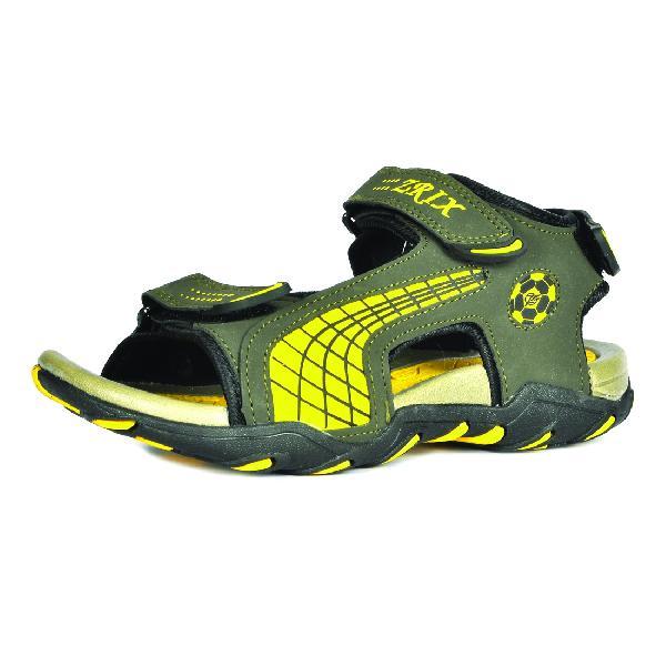 SDZ 101 Mens Mehndi & Yellow Sandals 03