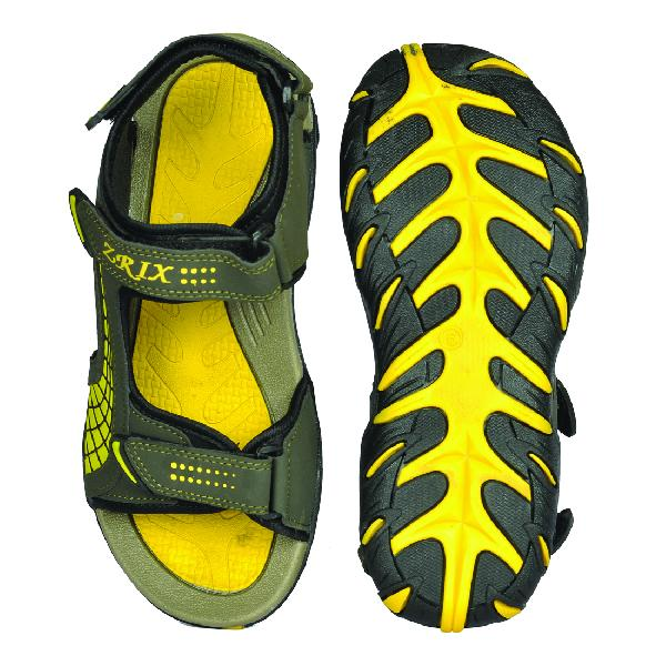 SDZ 101 Mens Mehndi & Yellow Sandals 04