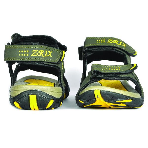 SDZ 101 Mens Mehndi & Yellow Sandals 06