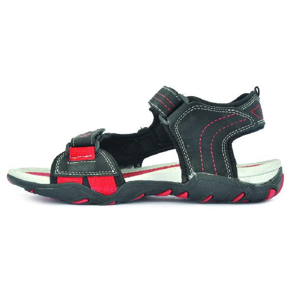 SDZ 102 Mens Black & Red Sandals 01