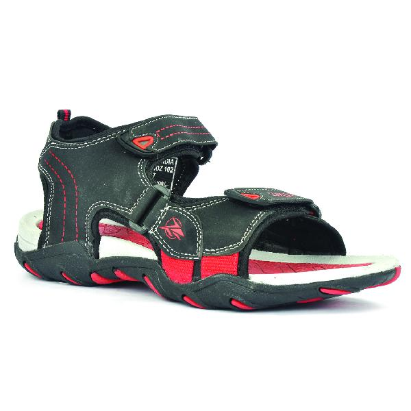 SDZ 102 Mens Black & Red Sandals 05