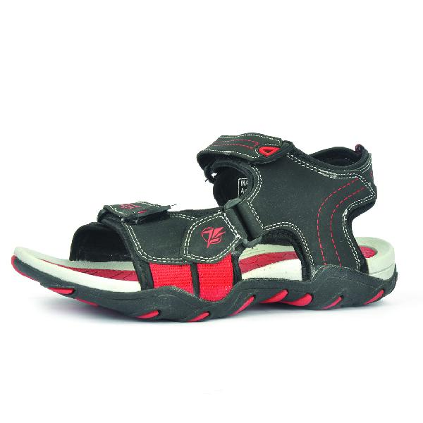 SDZ 102 Mens Black & Red Sandals 06